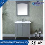 単一のタイプ純木の陶磁器の洗面器の浴室の虚栄心のキャビネット