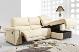 Storage Chaise Lounge Leather Sofa (611)