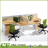 Station de travail de bureau de style du panneau Wtih armoire en bois