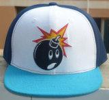 カスタム3D刺繍のデジタルプリント縁の急な回復の帽子