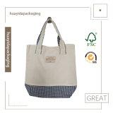 ロゴの綿のハンドル袋が付いているベストセラーのショッピング・バッグ