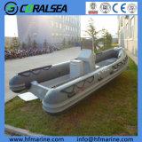 Bateau rigide gonflable rigide à grande vitesse de côte de Hypalon/PVC/FRP