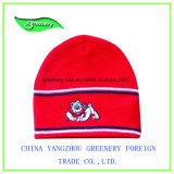 新しいデザイン刺繍の赤い帽子のニットの帽子