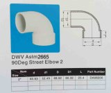 Cotovelo da rua do PVC Dwv (90deg M/F) (ASTM-D-2665)