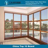 Bicolor Casement Alumínio segura de funções múltiplas janelas para Villa