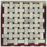 Weißes chinesisches Marmorsteinmosaik für Fußboden-und Wand-Projekt