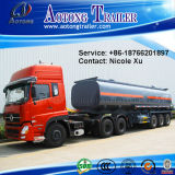 3 차축 30t Flammable Liquid Fuel Oil Chemical Tank Semi Truck Trailer (49.9m³) (LAT9400GRY)