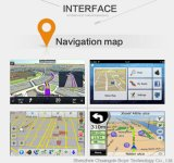 Jogador de entretenimento multimídia de carro com GPS Navigator