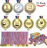 パーティの記念品、教室の報酬、ゲーム賞(金、銀、青銅、フットボール、バスケットボール、野球およびオリンピック賞メダル)のためのJoyinのおもちゃの金メダル