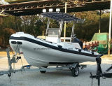 Aqualand 18feet 5.4m rubbed sport Fishing Boat/rigid Inflatable engine Boat (RIB540A)