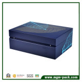 Blue Lacquer Cedarwood com Folha Inlay Cigar box