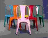 Vintage apilable Restaurantes Restaurante Café Bistro cafetería silla de metal de hierro