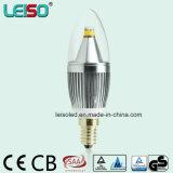 bulbo da vela do diodo emissor de luz de Dimmable da forma da flama de 5W 90ra E14/B15 (LS-B305-SB-A-CWWD/CWD)