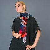 Neuer Streifen-Silk Digital-Druck-Handgerollter Schal