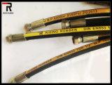 Flexible hydraulique haute pression avec un chiffon ou finition lisse