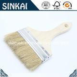 Brosse à cheveux à poils purs avec poignée en bois