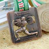 Fatto in medaglia di sollevamento di sport del metallo su ordinazione di rame antico della Cina per il commercio all'ingrosso