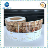 Стикер ярлыка печатание оптовой собственной личности высокого качества изготовленный на заказ слипчивый (jp-s176)
