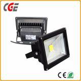 100W RGB LEDの洪水ライト10W 20W AC85-265V庭の照明屋外ライト