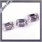 Изумруд отрезал свет 5X7mm - розовую синтетическую кубическую сделанную фабрику камня Zircon