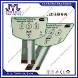 Полиэстер мембранный переключатель с металлическими куполов и светодиодный индикатор