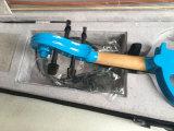 Violines eléctricos azul con diapasón de ébano