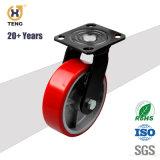 5'', de roulette de PU de pivotement de la plaque de capacité de charge 500 kg