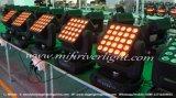 LEIDENE van DMX512 25PCS 12W RGBW Bewegende Matrijs
