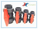 DIN BS ANSI JIS 빨간 손잡이를 가진 표준 PVC 확실한 조합 공 벨브