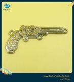 돋을새김된 금속 이름 레이블 꼬리표를 가진 장식적인 금속비