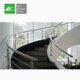 Trilhos chineses do corrimão das escadas do aço inoxidável da fábrica de Foshan do fornecedor