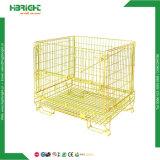 Fio dourado de metal gaiolas de Promoção de paletes de malha de zinco