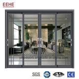 목욕탕 중국에서 알루미늄 단면도 유리 미닫이 문