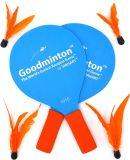 Деревянный шарик пляжа установил крытую напольную круглогодичную игру ракетки потехи для мальчиков, девушок, и людей всех времен