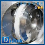 Vanne papillon d'acier inoxydable d'essai de Didtek 100% avec Chainwheels