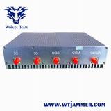 8 antenas de alta potencia 16W 3G 4G Móvil WiFi Jammer (con ventilador de refrigeración)