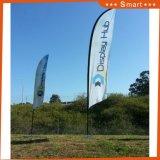 Bandierina della piuma di Swooper del vento della spiaggia di pubblicità esterna con la base + Palo
