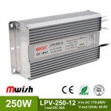 12V 250W Wechselstrom wasserdichten LED Aluminiumfahrer zum Gleichstrom-SMPS IP67