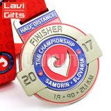 Medalla plateada oro de encargo caliente del Triathlon del campeón del metal de la venta