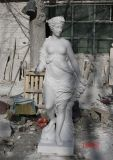 Estátuas européias de mármore brancas do cavamento do herói que cinzelam a escultura