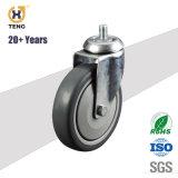 Roulette polyuréthane industriel avec frein Total