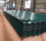 En carton ondulé en acier galvanisé prélaqué PPGI feuille de tôle de toit