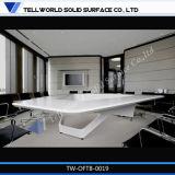 Superfícies Corian Mesa de conferência pedra mármore Artificial Office Mesa de reunião