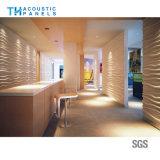 Écran 3D antibruit décoratif intérieur de fibre de polyester de Retartant de flamme pour le restaurant/hôtel