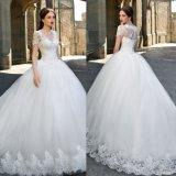 O Short Sleeves o vestido de casamento inchado nupcial Gv1712 de Tulle dos vestidos de esfera