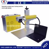 sistema da marcação do marcador do laser da fibra 20W no aço inoxidável