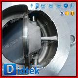 Didtek Leve e compacta CF8m inclinar o disco da válvula de retenção de wafers