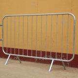 Segurança de aço galvanizado Pés de garra de controlo de multidões de barreiras de Esgrima