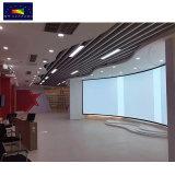 Grande ecrã Projector curvo, personalizada 3D Ecrã de projecção de estrutura fixa curvo para exposições