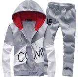 Neue Strickjacke-beiläufige Trainingsnazug-Sport-Klage des Mens-2PCS, die athletisches Jacket+Pants rüttelt